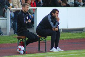 Fehlten zuletzt verletzt: Co-Spielertrainer Alexander Weiser (l.) und Spielertrainer Fabian Lamotte.